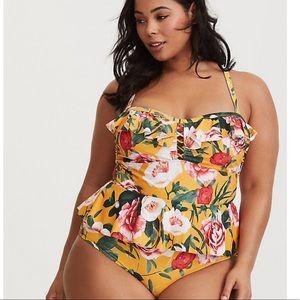Torrid | 2 | Floral Peplum Swimsuit